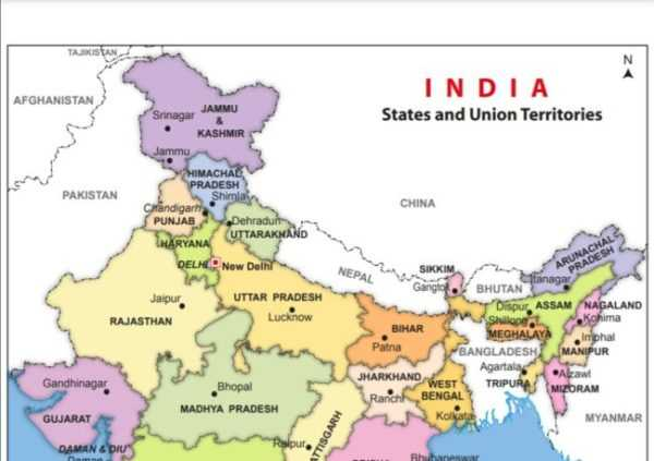 India Map PDF High Resolution Free Download