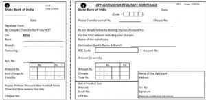 SBI RTGS Form PDF Download 2021 | SBI NEFT Form