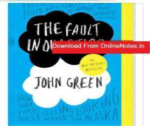The Fault in Our Stars John Green Free Ebook Download PDF
