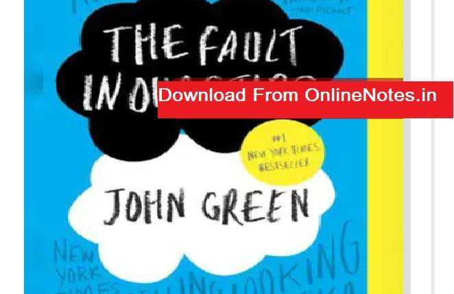 The Fault in Our Stars PDF Free Download Full Book