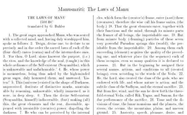 Manusmriti PDF - The Laws of Manu Free Download