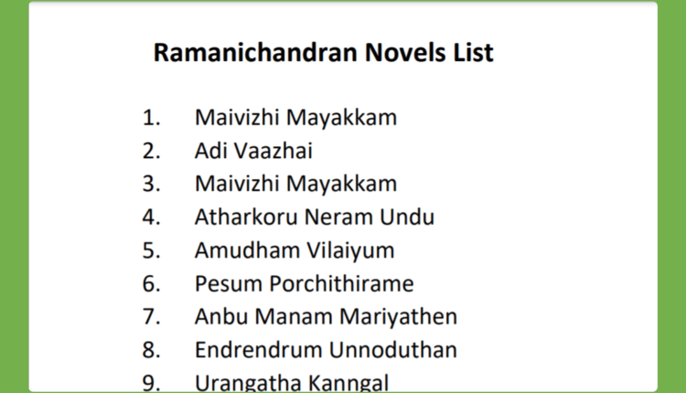 Ramanichandran Novels Free Download PDF List